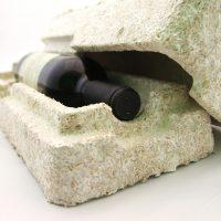 Mycobond es un material de embalaje fabricado a partir de residuos agrícolas no comestibles y raíces de hongos